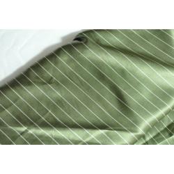 Podšívka zelená s proužkem