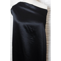 Černý satén-imitace shantung