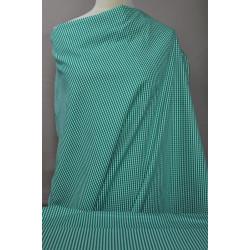 Zelenobílá kostička na košili