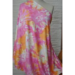 Úplet oranžovorůžová batika...