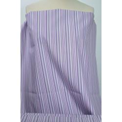 Bavlna s fialovými proužky
