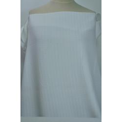 Bílá košilová látka s...