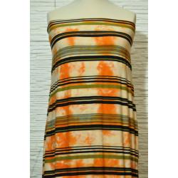 Úplet oranžová batika s...