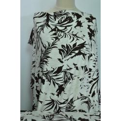 Úplet hnědobílý na dámské šaty