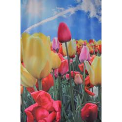 Dekorační látka vzor tulipán