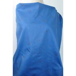 Strečová bavlna modrá