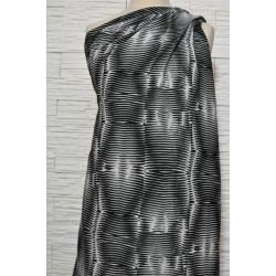 Batist s hedvábím černobílý