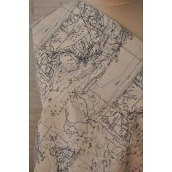 Bavlna se vzorem mapa