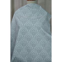 Bílá džínovina s šedým vzorem