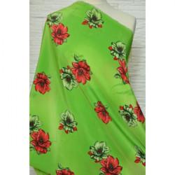 Látka na letní šaty zelená...