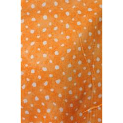 Oranžová šatovka s bílým...