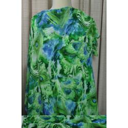 Zelenomodrá jemná šatovka