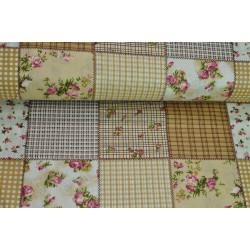 Bavlna béžový patchwork