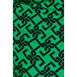 Zelený úplet s černými vzory