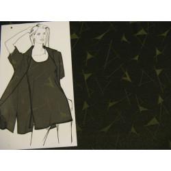 Tmavě zelený úplet se vzorem