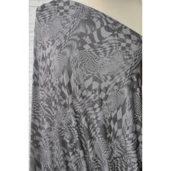 Úplet šedý se vzorem