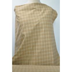 Oblekovka béžovobílé káro