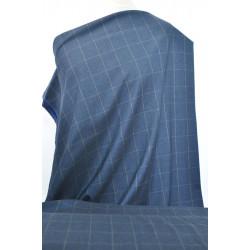 Tmavě modrá kostýmovka s kárem