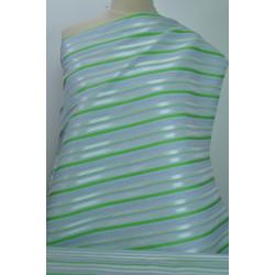 Šatovka streč zelenobílé pruhy
