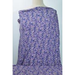 Fialová květovaná šatovka