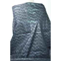 Taft černý s šedým vzorem