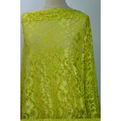 Krajka elastická žlutozelená