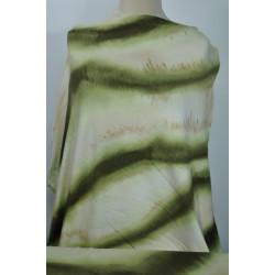 Pruhovaný zelenobéžový úplet
