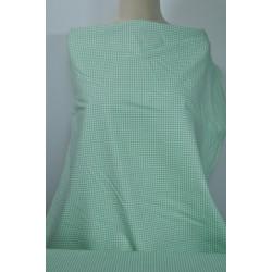 Strečová bavlna, zelenobílé...