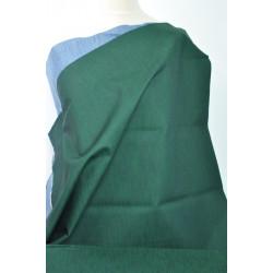 Zelená džínsovina, modrý rub