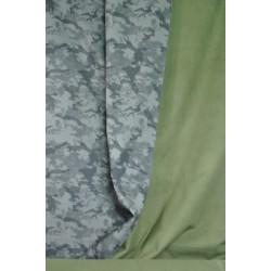 Maskáčový softshell zelený