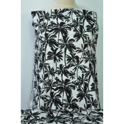 Úplet, černé palmy na bílé