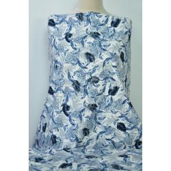Květovaná džínovina modré...