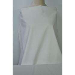 Bílá strečová bavlna s leskem