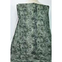 Strečová bavlna s hadím vzorem