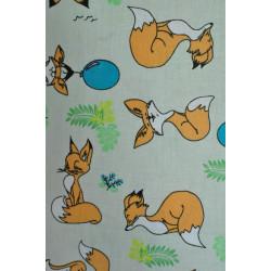 Bavlna s liškami