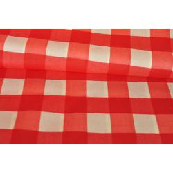 Bavlna červenobílá kostka