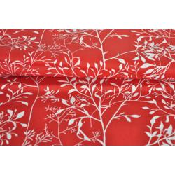 Červená bavlna s větvičkami