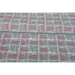 Šatovka, šedý a červený vzor
