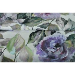 Strečová bavlna s růžemi