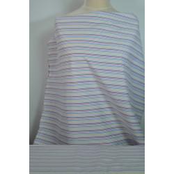 Košilová látka s barevnými...