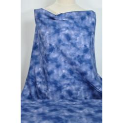 Bavlna modrá batika