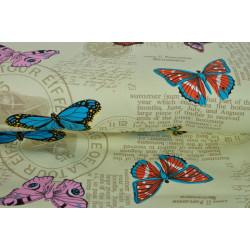 Motýli na hrubší bavlně
