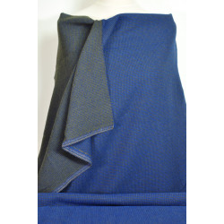Modročerná kostýmová látka