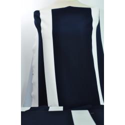 Šatovka s modrobílým vzorem