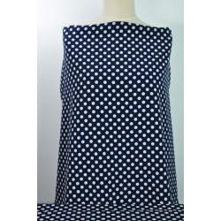 Modrá šatovka s bílým puntíkem