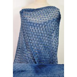 Modrá batikovaná krajka