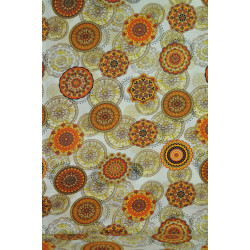 Bavlna oranžová mandala