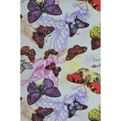 Bavlna s motýlky
