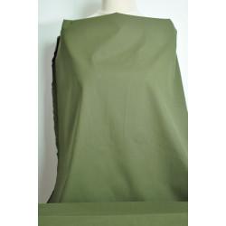 Jemná khaki strečová bavlna