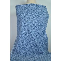 Bavlněná šatovka s modrým...